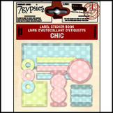 7 Gypsies | Label Sticker Books Baby Chic Polka Dot Scrapbooking Label Tag Kit