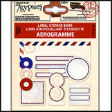 7 Gypsies | Label Sticker Books Air mail Envelope Scrapbooking Label Tag Kit