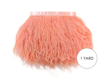 1 Yard - Peach Pink Ostrich Fringe Trim Wholesale Feather (Bulk)