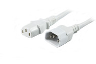 2M IEC C13 to C14 Power Cable in White