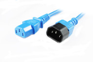 1M IEC C13 to C14 Power Cable in Blue