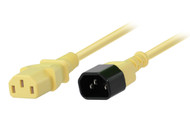 1M IEC C13 to C14 Power Cable in Yellow
