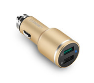USB Car Charger 2 Port with Qualcomm 3.0 Quick Charge