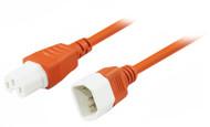 3M IEC C14 to C15 High Temperature Power Cable in Orange