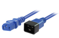 1M IEC C13 to C20 Power Cable in Blue