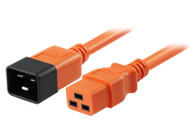 2M IEC C19 to C20 Power Cable in Orange