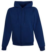 Navy Front Champion S800 Powerblend Eco Fleece Full Zip Hoodie | Athleticwear.ca