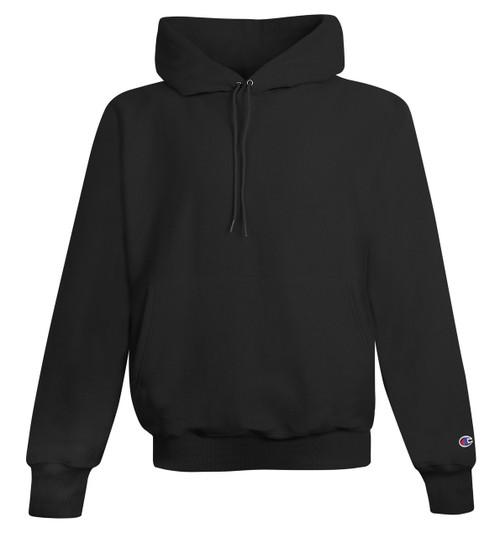 Black Front Champion S101 Reverse Weave Fleece Hoodie   Athleticwear.ca