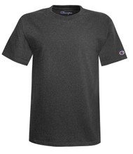 Charcoal Heather Front Champion T425 Short Sleeve Cotton Tee | Athleticwear.ca