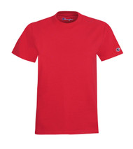 Red Front Champion T435 Youth Short Sleeve Cotton Tee | Athleticwear.ca