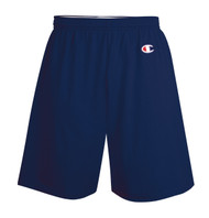 Navy Front Champion 8187 Cotton Jersey Gym Shorts 6"