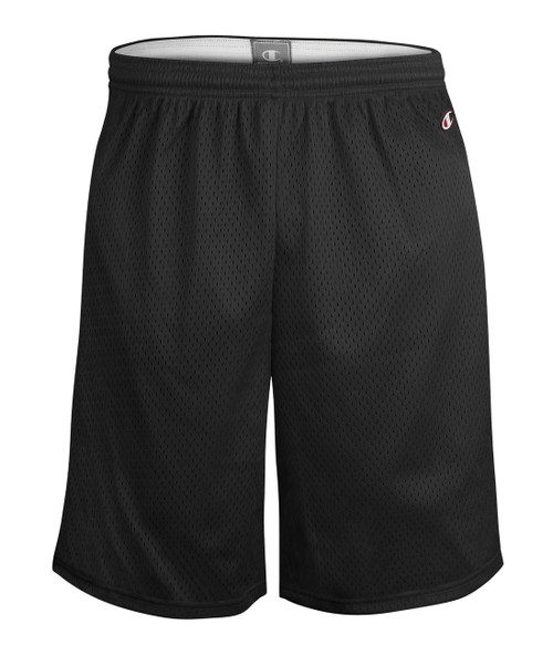 "Black Front Champion 9"" 8731 Mesh Shorts | Athleticwear.ca"