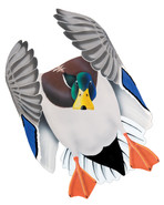 Mallard Drake #2 PVC Garage Duck