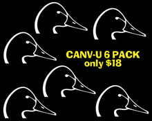 Canvasbacks Unlimited Logo 6-Pack