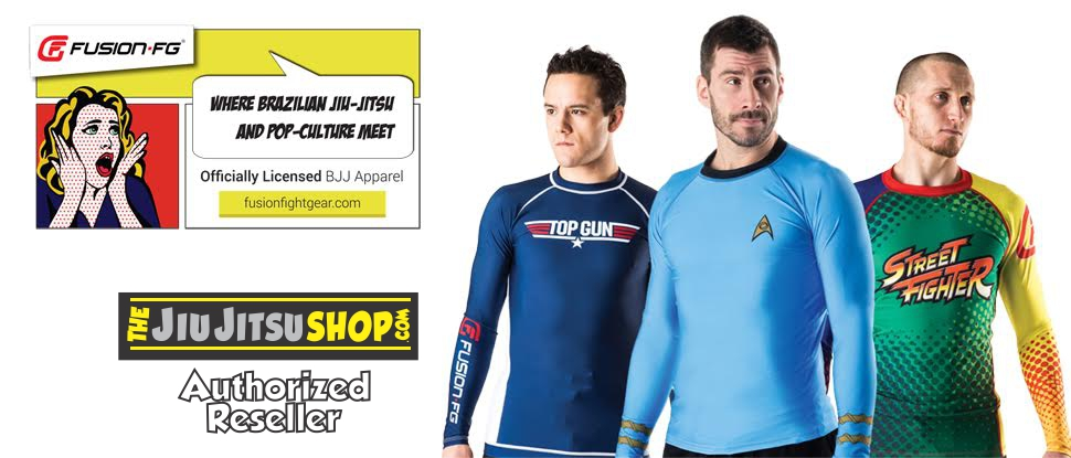 fusion fg now available at www.thejiujitsushop.com.  Fusion Fight gear with star trek, street fighter, top gun models.  Available with free shipping at The Jiu Jitsu Shop today!