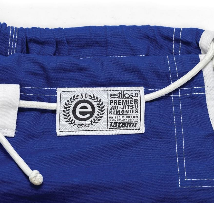 Tatami Estilo 5.0 blue pants with woven patch