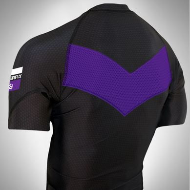 Do or Die purple Ranked rashguard  back of rashguard short sleeve available at www.thejiujitsushop.com  Enjoy Free Shipping from The Jiu Jitsu Shop today!