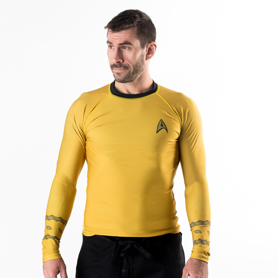 fusion Fight gear Star trek gold uniform.  Available at The Jiu Jitsu Shop.