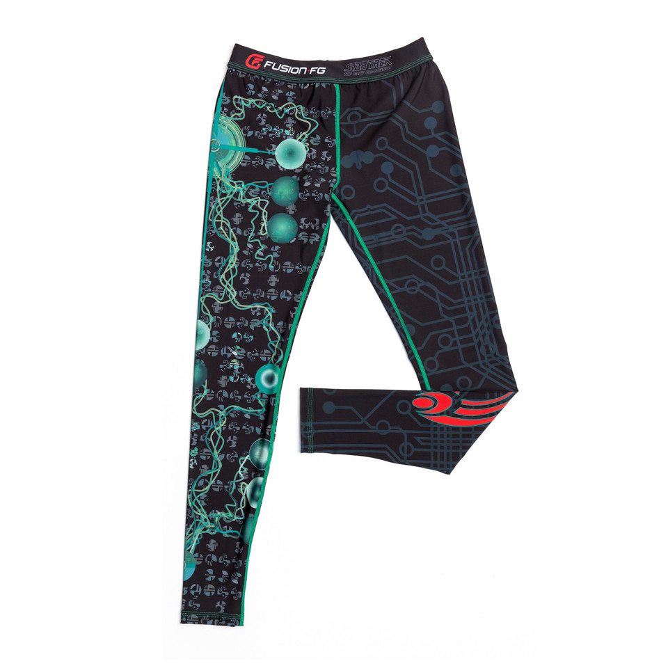 Fusion FG Star Trek The Borg Assimilation Spats.  Assimilate now, resistance is futile.  Available at www.thejiujitsushop.com  Enjoy Free Shipping from The Jiu Jitsu Shop today!