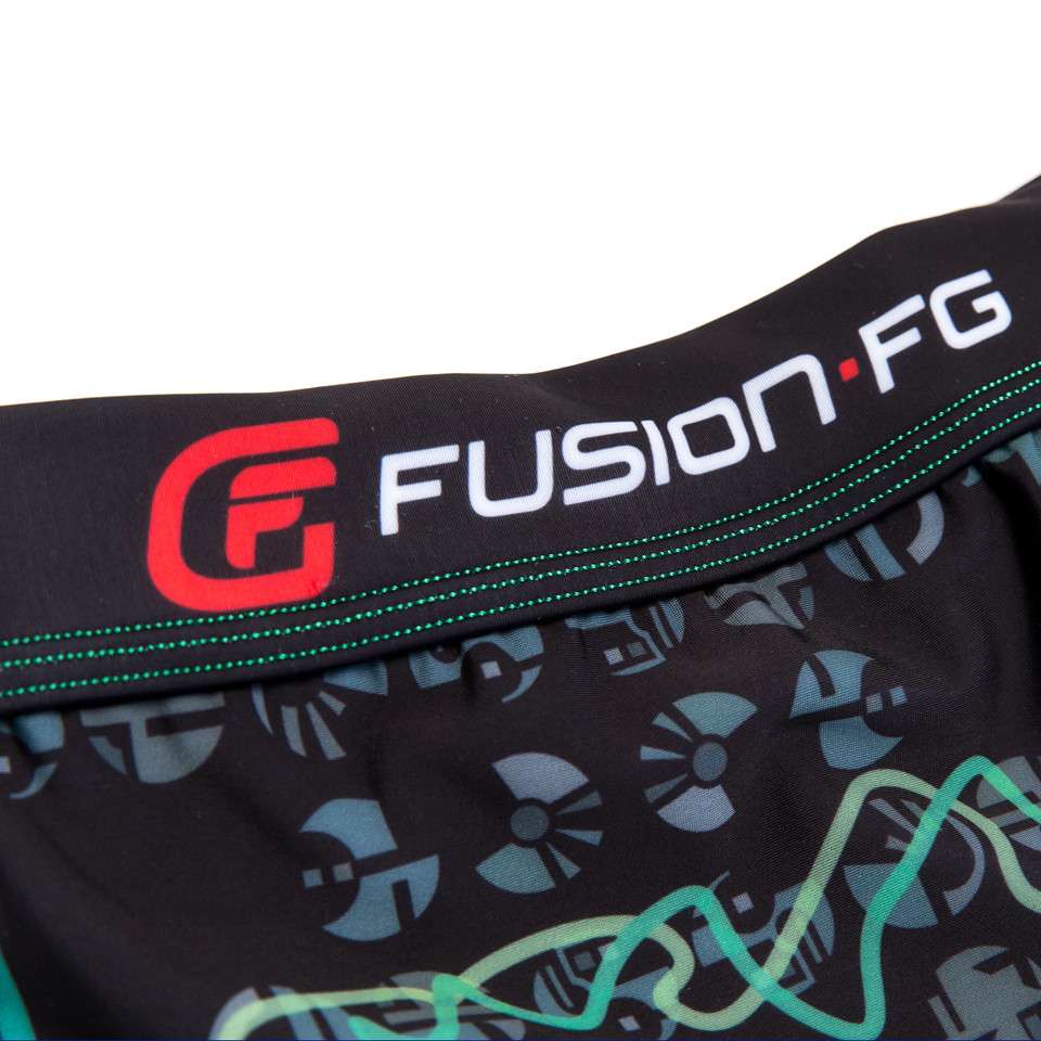 Fusion FG Star Trek The Borg Assimilation Spats.  zoomed into the waistband with fusion FG logo around the waist.  Available at www.thejiujitsushop.com  Enjoy Free Shipping from The Jiu Jitsu Shop today!