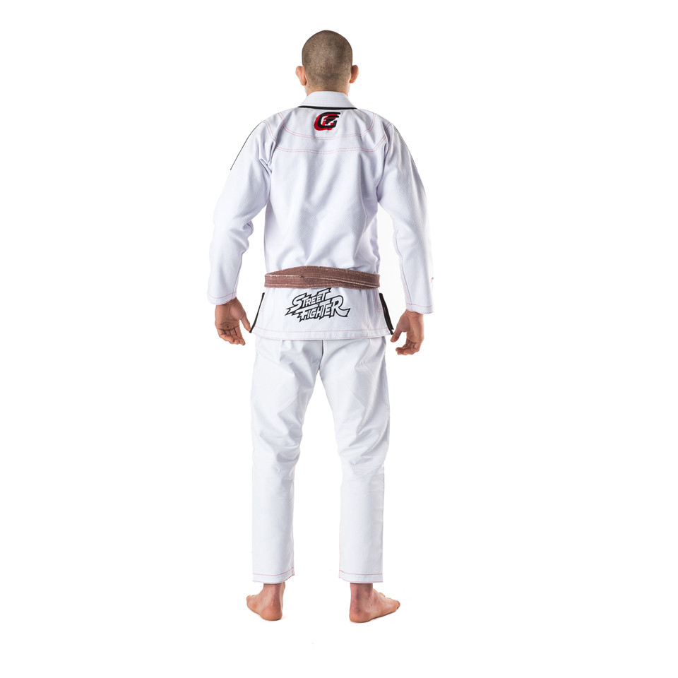 back of Fusion FG Street Fighter Ryu Hadoken BJJ Gi available at www.thejiujitsushop.com   Fully licensed by Street fighter and available with Free Shipping from The Jiu Jitsu Shop.