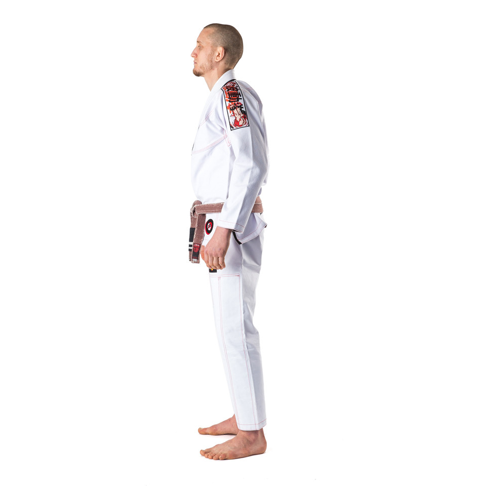 Street Fighter Gi side view at www.thejiujitsushop.com