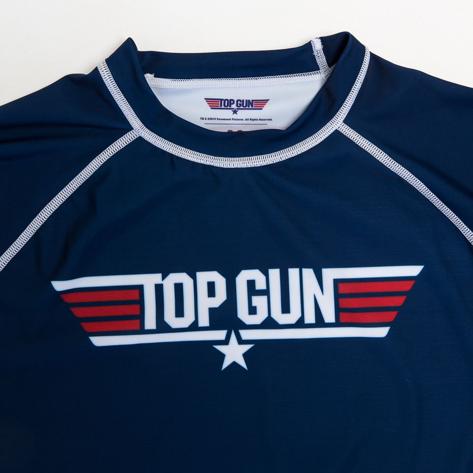 Fusion FG Top Gun Classic Rashguard in Navy available at www.thejiujitsushop.com Nerd out with us and this awesome rashguard.  Also available in black  Enjoy Free Shipping from The Jiu Jitsu Shop today!