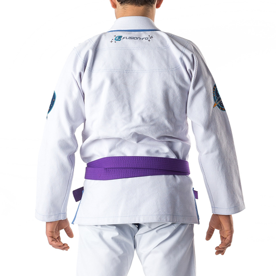 Fusion Star Trek Spock Gi available at www.thejiujitsushop.com.  Unique Star trek officially licensed Gi.  Back of GI  Enjoy Free Shipping from The Jiu Jitsu Shop