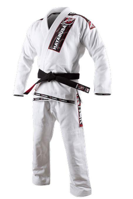 White Hayabusa Goorudo Gold Weave Jiu-Jitsu Gi