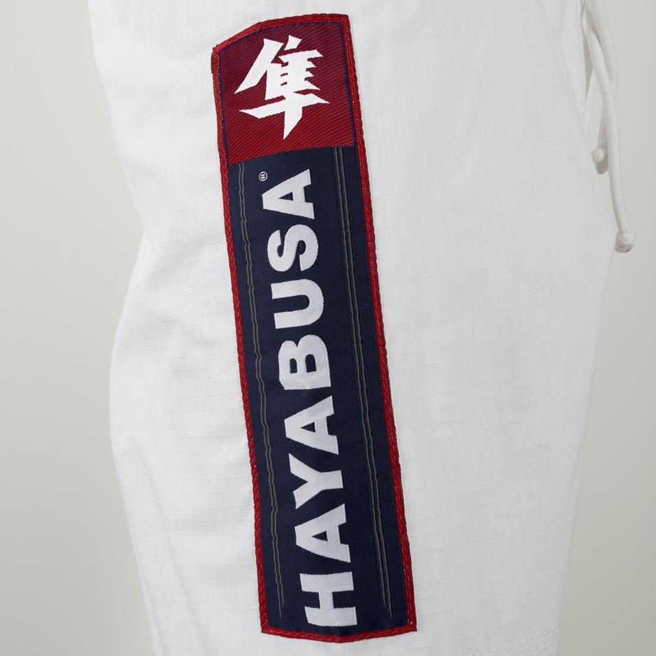 Rip stop pants on the new Hayabusa Shinju 2 pearl gi white available at www.thejiujitsushop.com   Enjoy Free Shipping from The Jiu Jitsu Shop today.