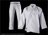 Inverted Gear Panda Armor Gi.  Available at www.thejiujitsushop.com  Free Shipping from The Jiu Jitsu Shop today.  950 GSM heavy duty jacket. White gi with grey logos  Heavy duty gi for the Double Weave Fans.