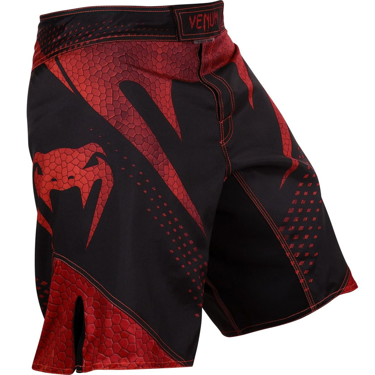 alternate front view of the new Venum Hurricane Fightshorts Amazonia Red MMA Shorts now available at www.thejiujitsushop.com  Top MMA and Grappling Shorts  Enjoy Free Shipping from The Jiu Jitsu Shop today!