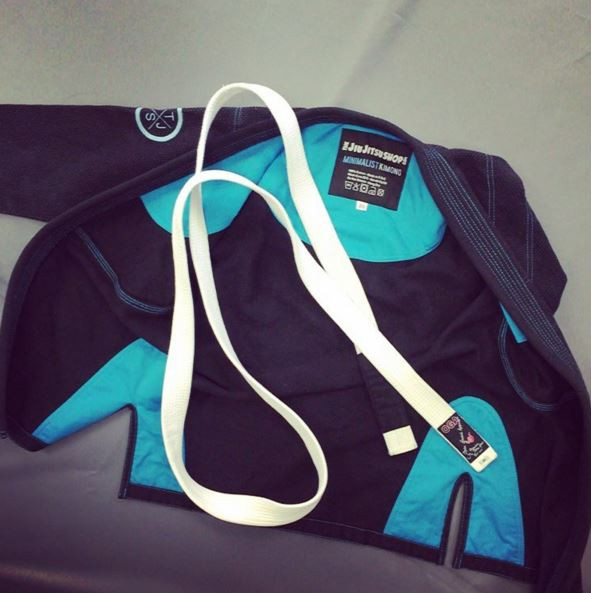 Inside the Women's minimalist gi.  Black and teal available at www.thejiujitsushop.com