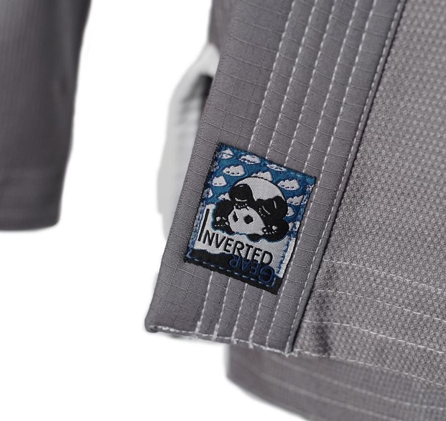 Inverted Gear Light Pearl Grey Jiu Jitsu Gi.  Available at www.thejiujitsushop.com While supplies last.  Sold out quickly last time!   Do not wait.  Grab a new Inverted gear gi in grey today! Comfortable, durable, and light!  Free Shipping from The Jiu Jitsu Shop.