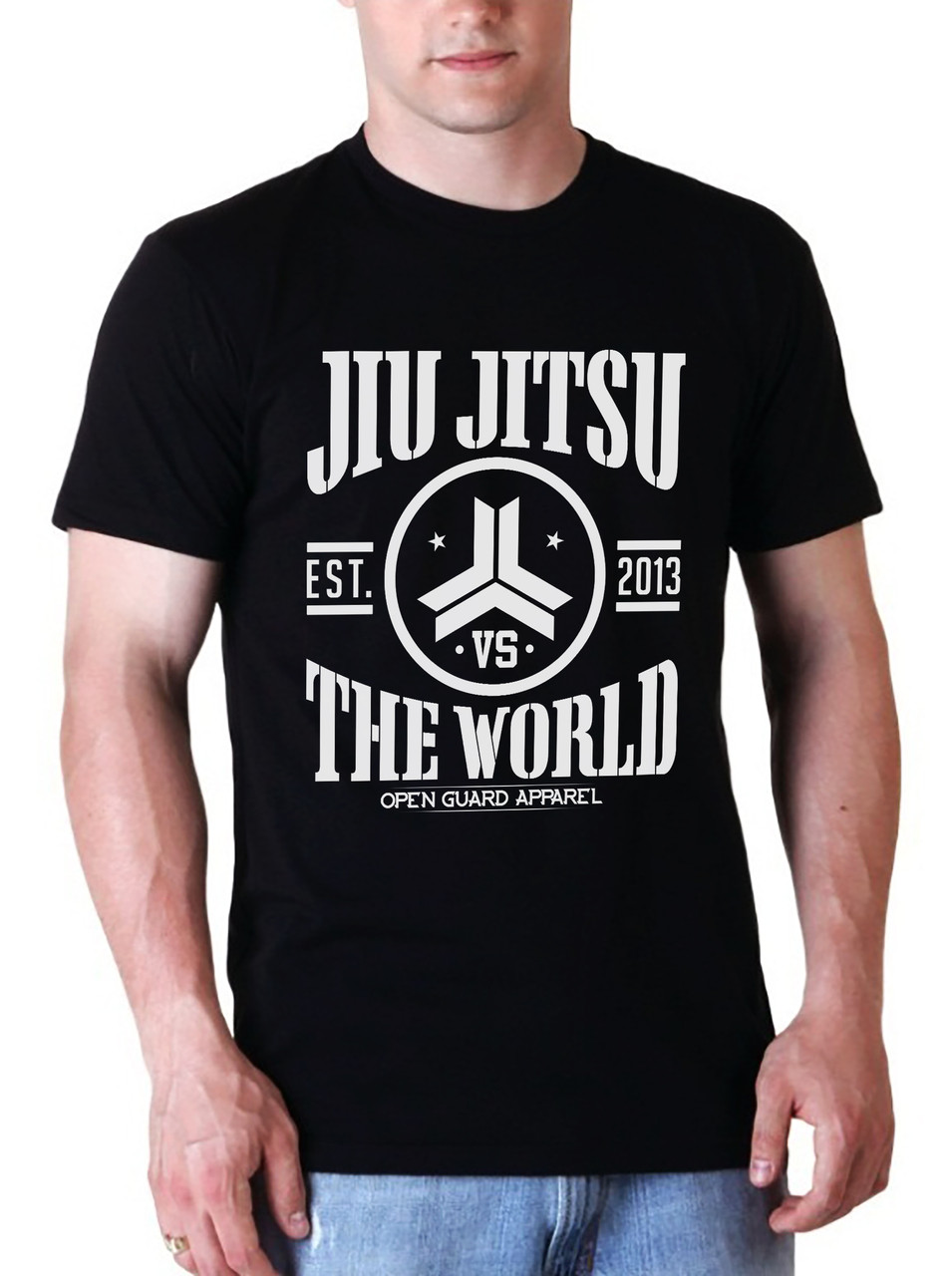 OGA Jiu Jitsu VS The World Black T-Shirt.  Available at www.thejiujitsushop.com  Open Guard Apparel