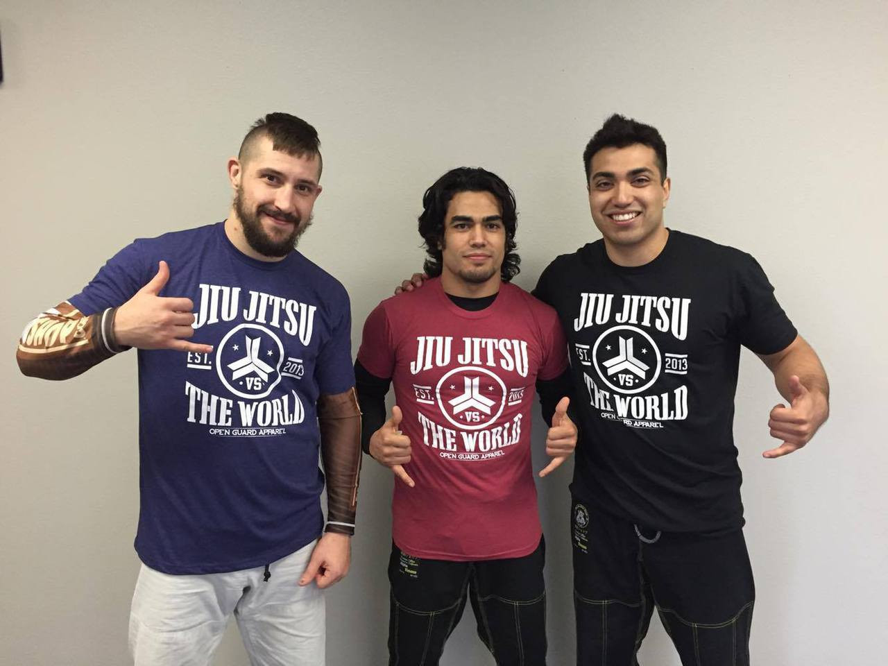 Open Guard Apparel Jiu Jitsu Vs The World T-Shirts.  Available at www.thejiujitsushop.com