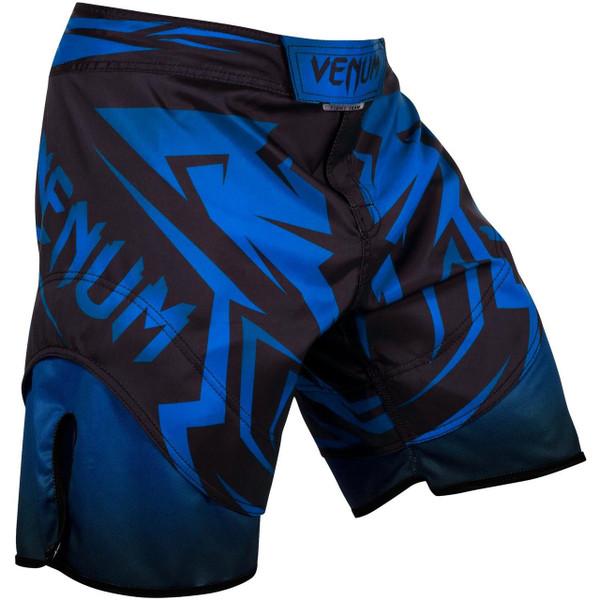 Venum Shadow Hunter Fight Short in Blue and Black.  Available at www.thejiujitsushop.com.  Premium fight shorts shadow hunter  enjoy Free Shipping from The Jiu Jitsu Shop