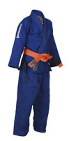 Gameness youth air brazilian jiu jitsu blue gi.  Available at www.thejiujitsushop.com   Free shipping on all kids gis.