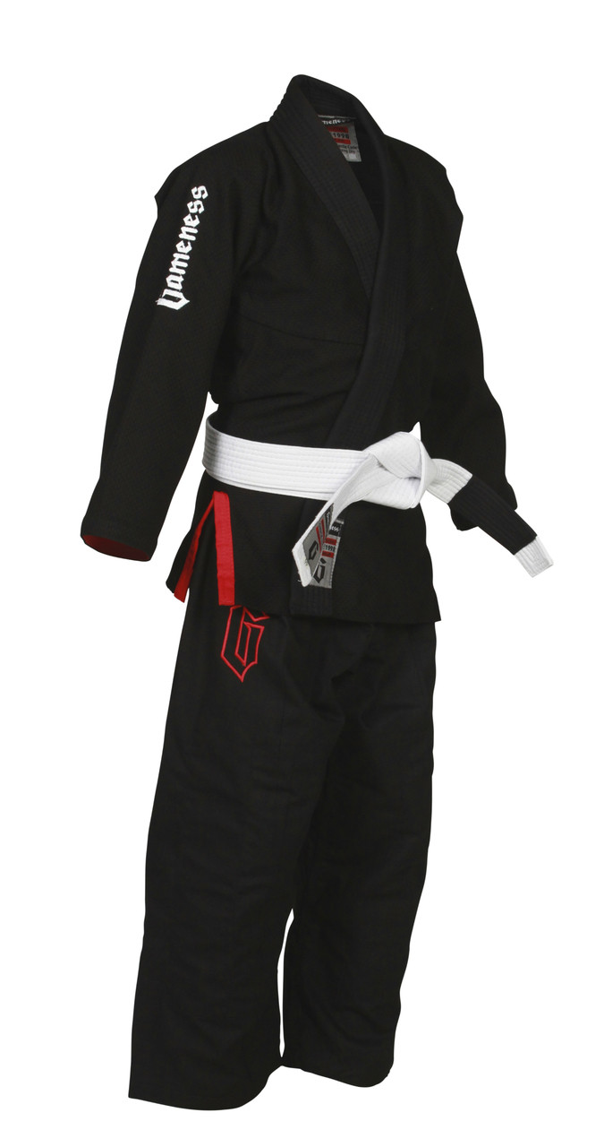 Gameness kids air bjj black gi.  Available at www.thejiujitsushop.com.  comfortable, durable affordable kids gi modeled after the popular gameness air.   Enjoy free shipping storewide on all products from The Jiu Jitsu Shop today!