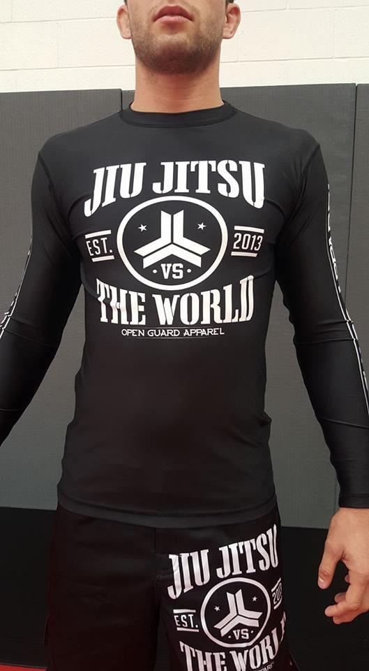 OGA Jiu Jitsu Vs The World Rashguard longsleeve.  After the popular t-shirt.  Free Shipping from The Jiu Jitsu Shop.