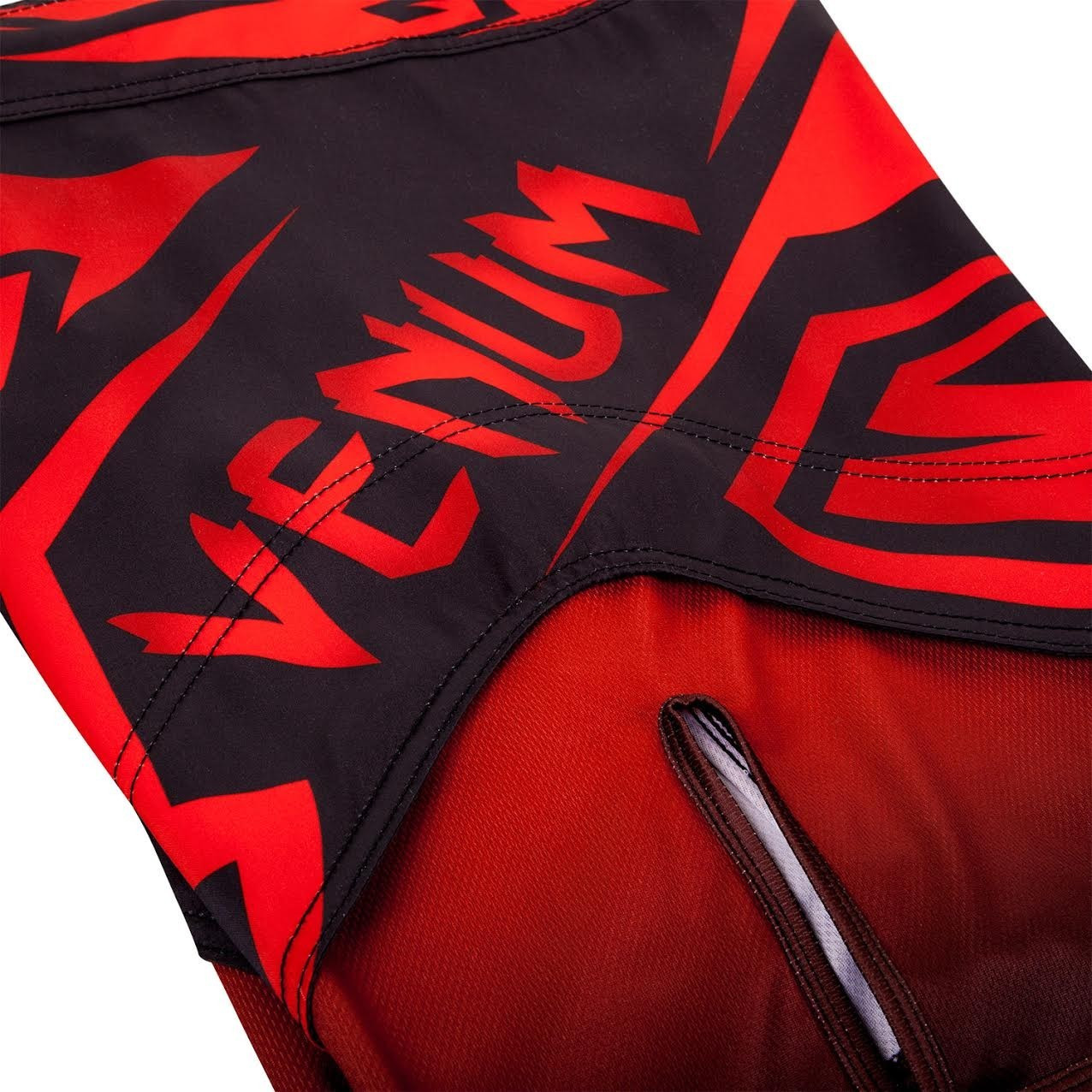 Venum Shadow Hunter Fight Short in Red and Black.  Available at www.thejiujitsushop.com.  Premium fight shorts shadow hunter  enjoy Free Shipping from The Jiu Jitsu Shop