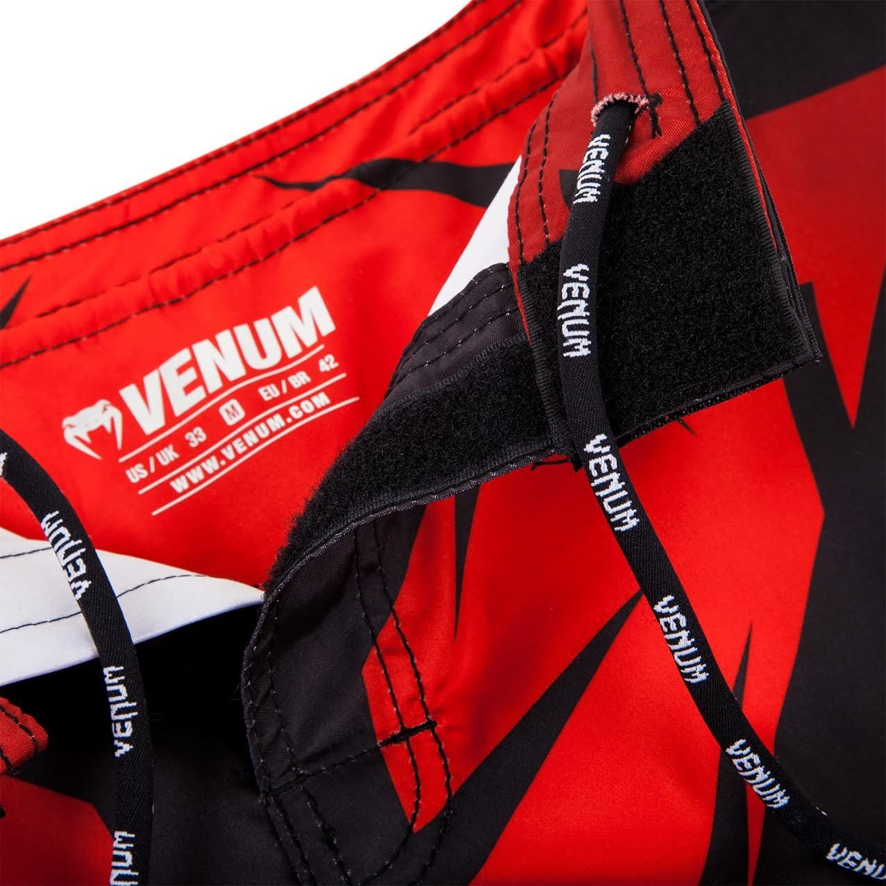 Enclosure Venum Shadow Huntere Shorts Red.  Free shipping from The Jiu Jitsu Shop.