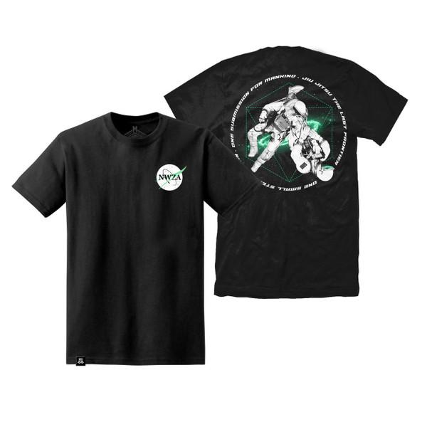 Newaza Apparel Galaxy Grappler T-Shirt Black available at www.thejiujitsushop.com