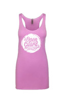 OGA Circle Flow Tank available for girls in pink and white at www.thejiujitsushop.com or www.openguardapparel.com