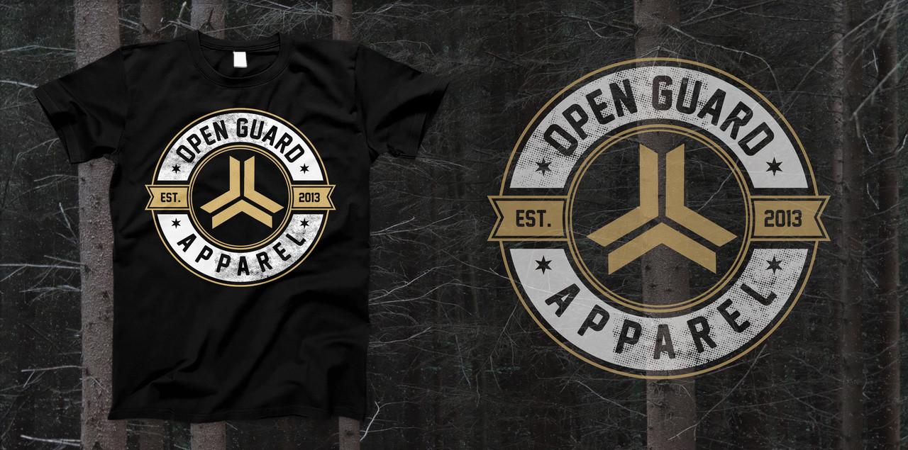 Open Guard Apparel Established T-Shirt.  Available at www.thejiujitsushop.com and www.openguardapparel.com