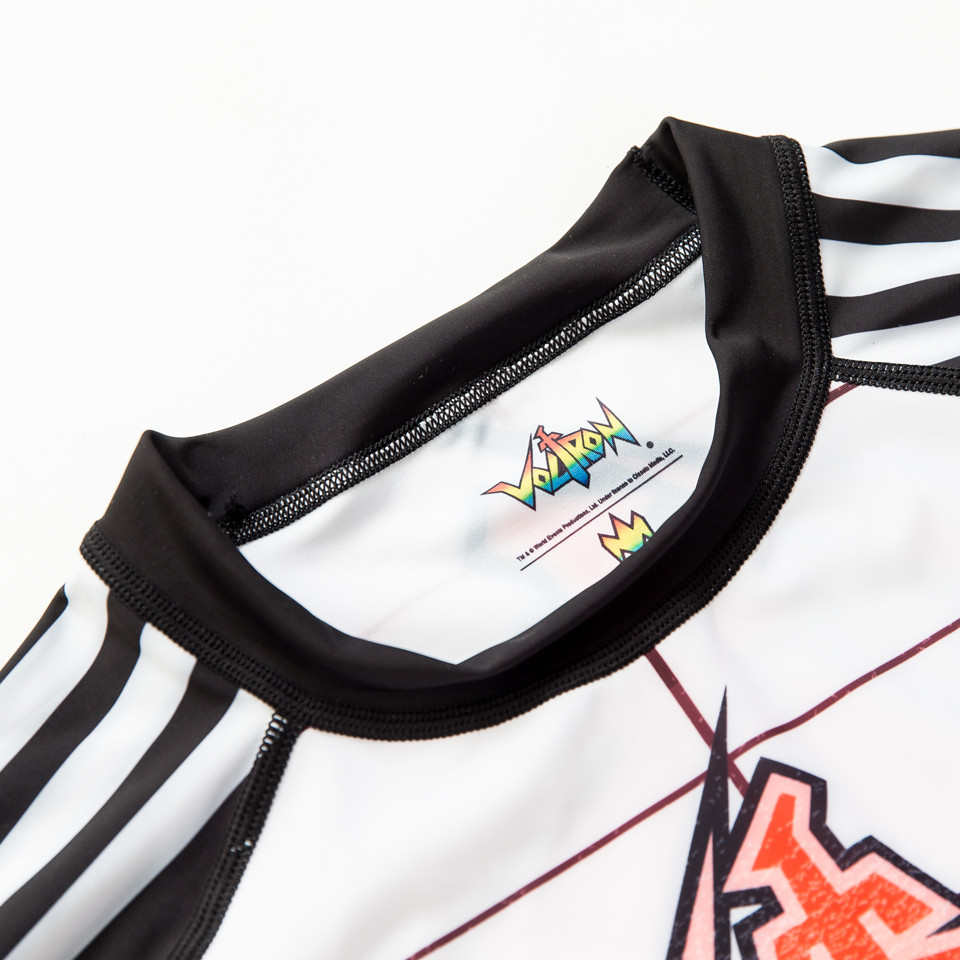 Voltron BJJ rashguard in White available at www.thejiujitsushop.com  Enjoy free shipping with your trusted BJJ Source