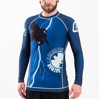 Fusion FG Batman The Dark Knight Returns Cover Rashguard.  Available at www.thejiujitsushop.com  Enjoy Free Shipping from The Jiu Jitsu Shop today.
