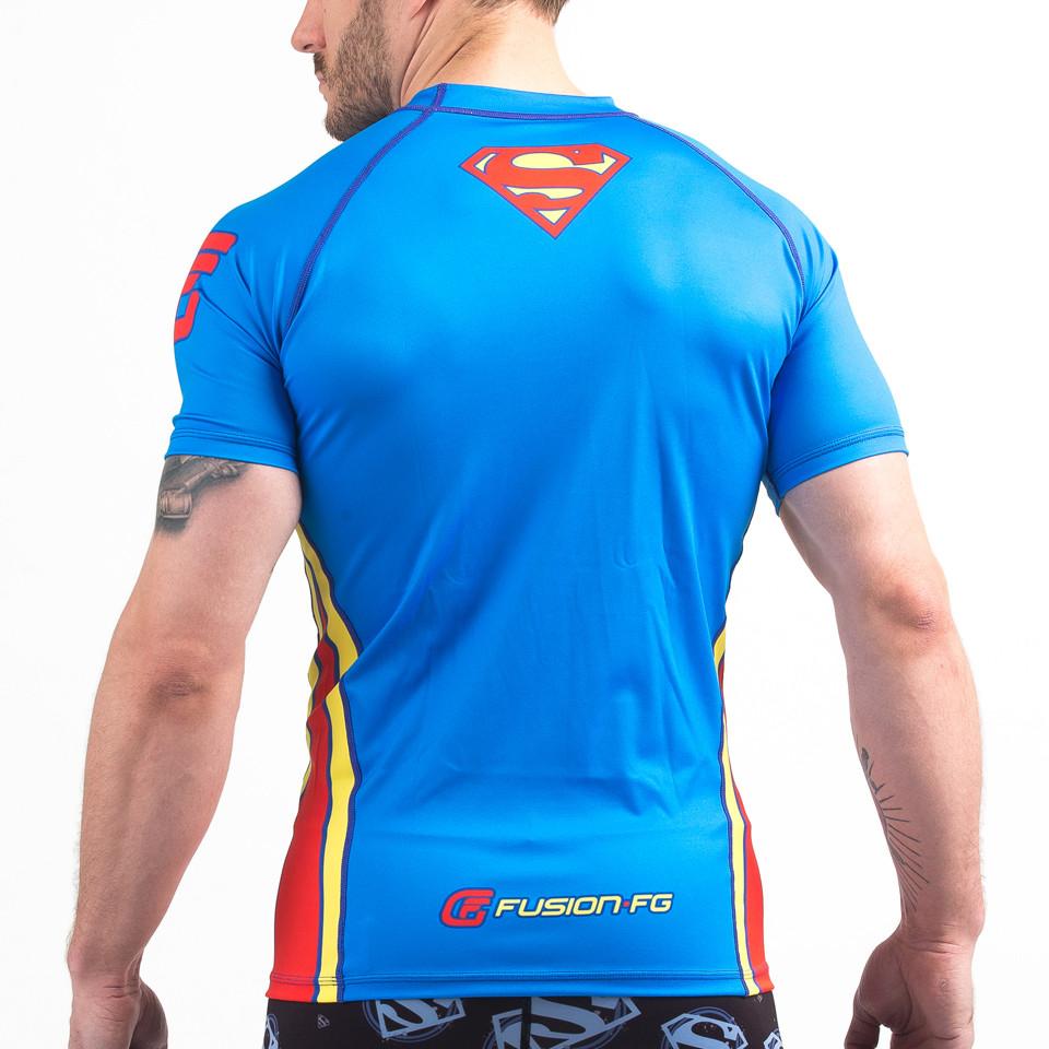 Back of the Fusion FG Superman Classic Logo Jiu-Jitsu Rashguard available at www.thejiujitsushop.com  Enjoy Free Shipping from The Jiu Jitsu Shop