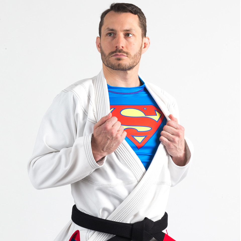 Fusion FG Superman Classic Logo Jiu-Jitsu Rashguard available at www.thejiujitsushop.com  Enjoy Free Shipping from The Jiu Jitsu Shop