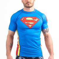 Fusion FG Superman Classic Logo Jiu-Jitsu Rashguard available at www.thejiujitsushop.com  Enjoy Free Shipping from The Jiu Jitsu Shop